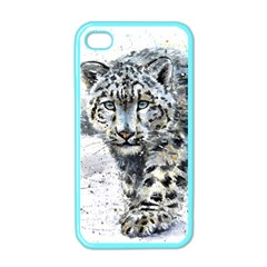 Snow Leopard  Apple Iphone 4 Case (color) by kostart