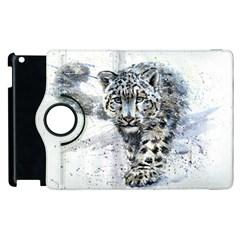 Snow Leopard  Apple Ipad 3/4 Flip 360 Case by kostart
