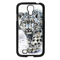 Snow Leopard  Samsung Galaxy S4 I9500/ I9505 Case (black) by kostart