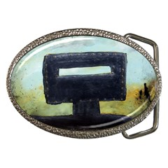 In Your Face Ned Kelly Belt Buckle (oval) by stevendix