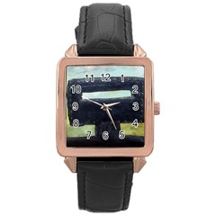 In Your Face Ned Kelly Rose Gold Leather Watch  by stevendix