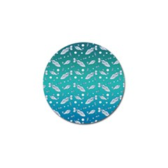 Under The Sea Paisley Golf Ball Marker (4 Pack) by emilyzragz