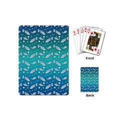 Under The Sea Paisley Playing Cards (mini)  by emilyzragz