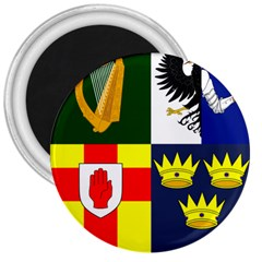 Arms Of Four Provinces Of Ireland  3  Magnets by abbeyz71