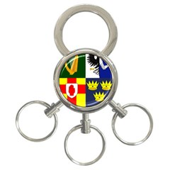 Arms Of Four Provinces Of Ireland  3 Ring Key Chains by abbeyz71