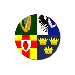 Arms Of Four Provinces Of Ireland  Magnet 3  (round) by abbeyz71