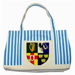 Arms Of Four Provinces Of Ireland  Striped Blue Tote Bag by abbeyz71