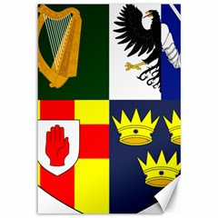 Arms Of Four Provinces Of Ireland  Canvas 12  X 18   by abbeyz71