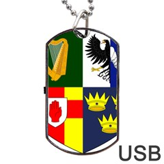 Arms Of Four Provinces Of Ireland  Dog Tag Usb Flash (one Side) by abbeyz71