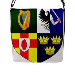 Arms Of Four Provinces Of Ireland  Flap Messenger Bag (l)  by abbeyz71