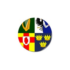 Arms Of Four Provinces Of Ireland  Golf Ball Marker by abbeyz71