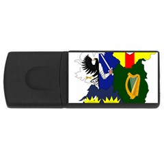 Flag Map Of Provinces Of Ireland Usb Flash Drive Rectangular (4 Gb) by abbeyz71
