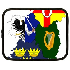 Flag Map Of Provinces Of Ireland Netbook Case (xl)  by abbeyz71