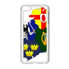 Flag Map Of Provinces Of Ireland Apple Ipod Touch 5 Case (white) by abbeyz71