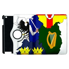 Flag Map Of Provinces Of Ireland Apple Ipad 3/4 Flip 360 Case by abbeyz71