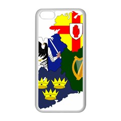 Flag Map Of Provinces Of Ireland Apple Iphone 5c Seamless Case (white) by abbeyz71