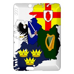Flag Map Of Provinces Of Ireland Kindle Fire Hdx Hardshell Case by abbeyz71
