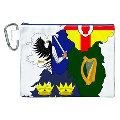 Flag Map Of Provinces Of Ireland Canvas Cosmetic Bag (xxl) by abbeyz71