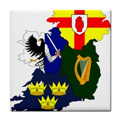 Flag Map Of Provinces Of Ireland  Tile Coasters by abbeyz71