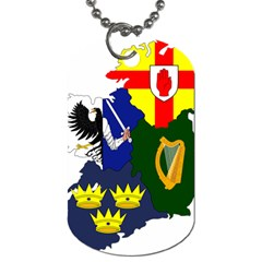 Flag Map Of Provinces Of Ireland  Dog Tag (two Sides) by abbeyz71