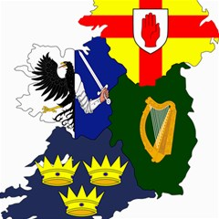 Flag Map Of Provinces Of Ireland  Canvas 12  X 12   by abbeyz71