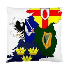 Flag Map Of Provinces Of Ireland  Standard Cushion Case (one Side) by abbeyz71