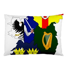 Flag Map Of Provinces Of Ireland  Pillow Case by abbeyz71