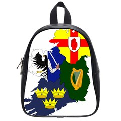 Flag Map Of Provinces Of Ireland  School Bags (small)  by abbeyz71