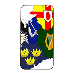 Flag Map Of Provinces Of Ireland  Apple Iphone 4/4s Seamless Case (black) by abbeyz71