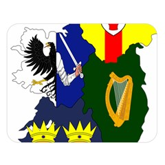 Flag Map Of Provinces Of Ireland  Double Sided Flano Blanket (large)  by abbeyz71