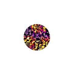Purple Yellow Flower Plant 1  Mini Buttons by Costasonlineshop