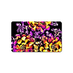 Purple Yellow Flower Plant Magnet (name Card) by Costasonlineshop
