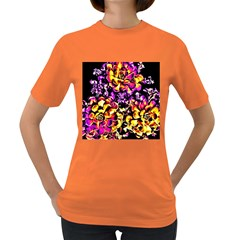 Purple Yellow Flower Plant Women s Dark T Shirt