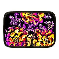 Purple Yellow Flower Plant Netbook Case (medium)  by Costasonlineshop