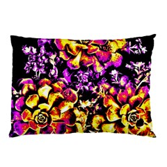 Purple Yellow Flower Plant Pillow Case by Costasonlineshop