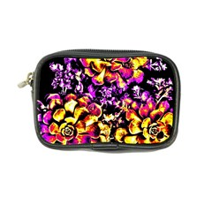 Purple Yellow Flower Plant Coin Purse by Costasonlineshop