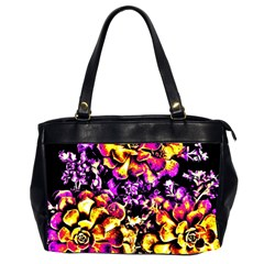 Purple Yellow Flower Plant Office Handbags (2 Sides)  by Costasonlineshop