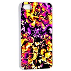 Purple Yellow Flower Plant Apple Iphone 4/4s Seamless Case (white)