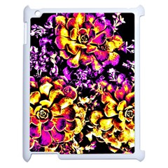 Purple Yellow Flower Plant Apple Ipad 2 Case (white) by Costasonlineshop