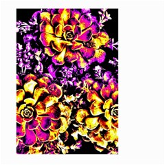 Purple Yellow Flower Plant Large Garden Flag (two Sides)