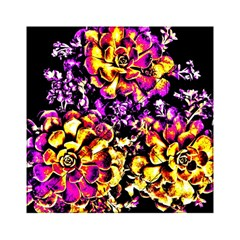 Purple Yellow Flower Plant Acrylic Tangram Puzzle (6  X 6 ) by Costasonlineshop