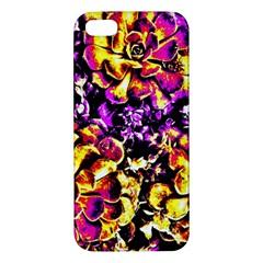 Purple Yellow Flower Plant Apple Iphone 5 Premium Hardshell Case