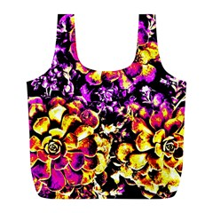 Purple Yellow Flower Plant Full Print Recycle Bags (l)  by Costasonlineshop