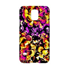 Purple Yellow Flower Plant Samsung Galaxy S5 Hardshell Case  by Costasonlineshop