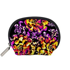 Purple Yellow Flower Plant Accessory Pouches (small)
