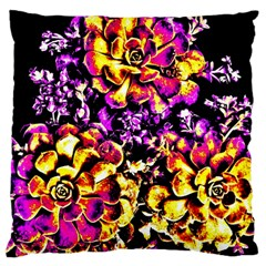 Purple Yellow Flower Plant Standard Flano Cushion Case (two Sides) by Costasonlineshop