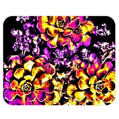 Purple Yellow Flower Plant Double Sided Flano Blanket (medium)