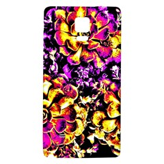 Purple Yellow Flower Plant Galaxy Note 4 Back Case by Costasonlineshop
