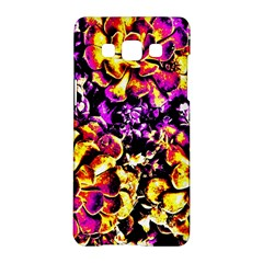 Purple Yellow Flower Plant Samsung Galaxy A5 Hardshell Case  by Costasonlineshop