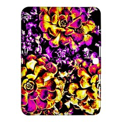 Purple Yellow Flower Plant Samsung Galaxy Tab 4 (10 1 ) Hardshell Case
